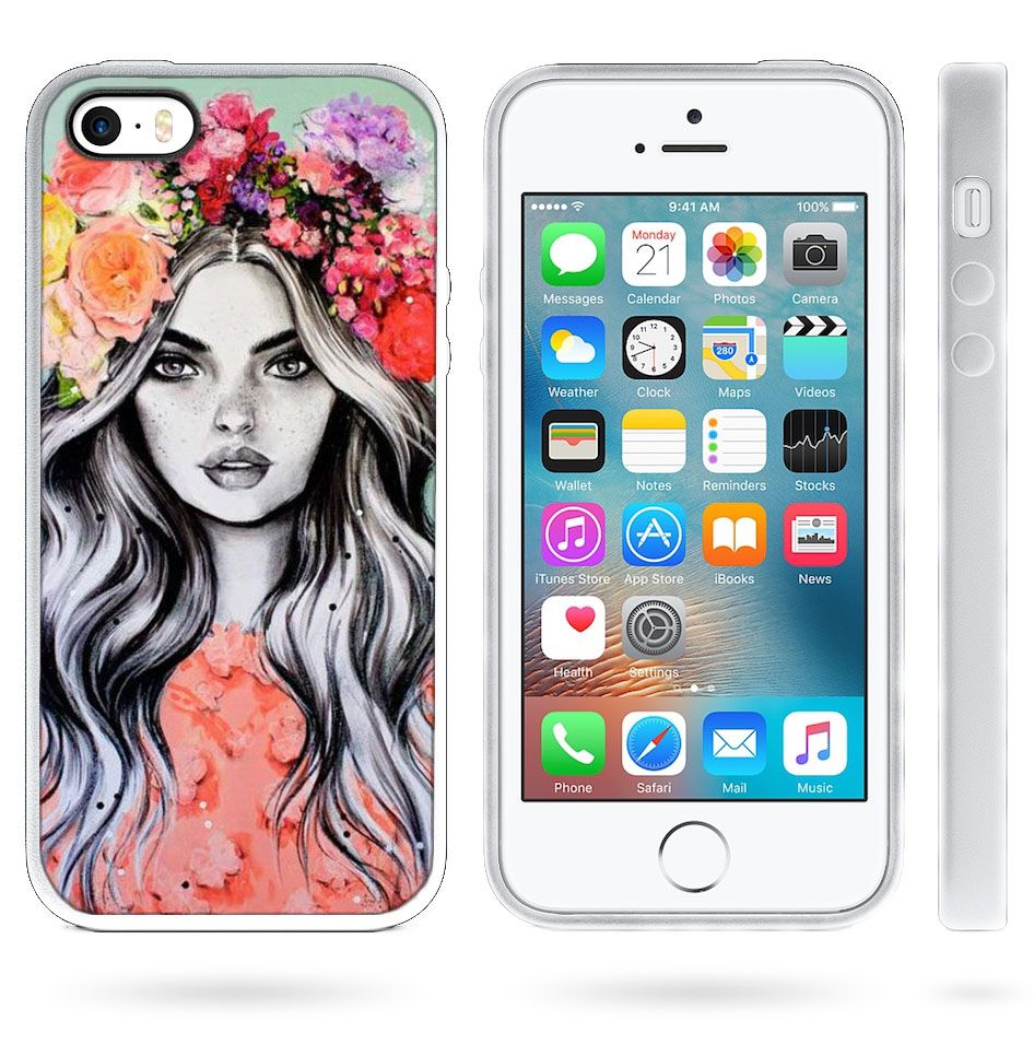 Чохол з малюнком дівчини на iPhone 5   5s   SE Красивий 8a2ee252b045c