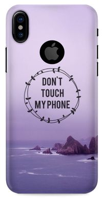 """Dont touch my phone"" чехол на iPhone X / 10"